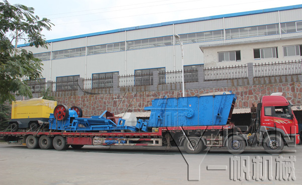 YIFAN PE500×750 jaw crusher and YK1545 circular vibrating screen were delivered to Shanghai