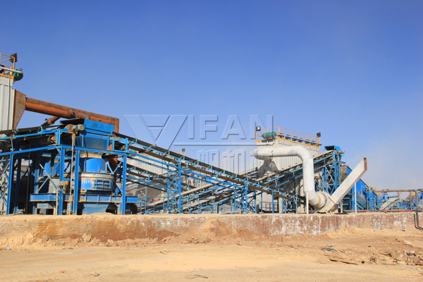 Yifan mechanically propelled Shanxi the Pingshuo maximum aggregate production line started running