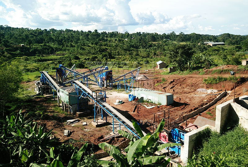 200t/h granite crushing plant in Uganda