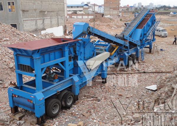 20 million tons urban construction waste crushing process to achieve concrete recycling