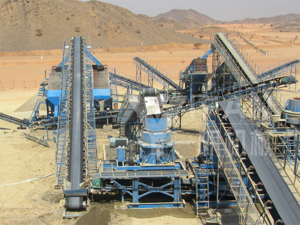 Saudi 250t/h aggregate production line