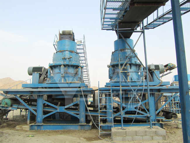cone crusher - 250t/h aggregate production line