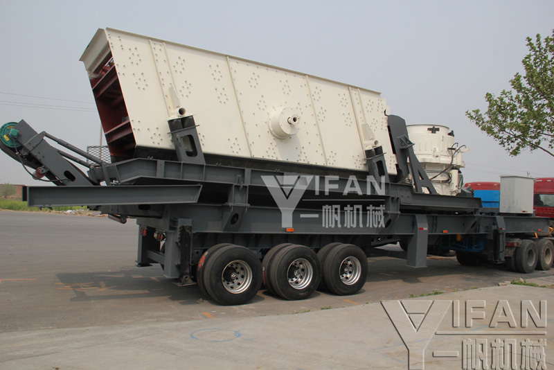 tires mobile cone crusher station shipments site
