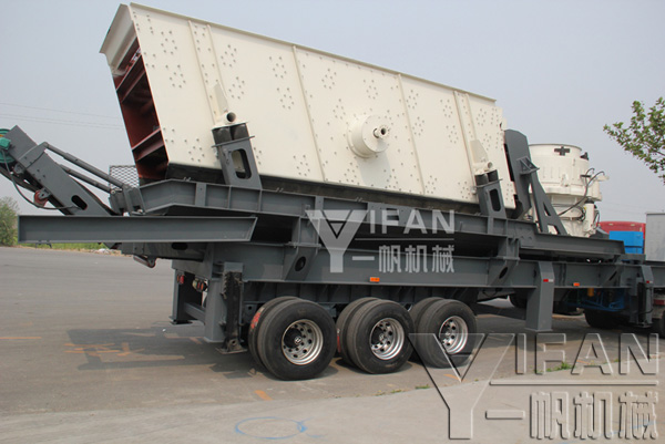 YIFAN tire mobile cone crusher station shipments site