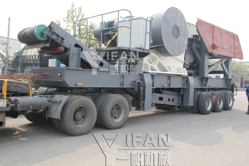 tires mobile jaw crusher station shipments