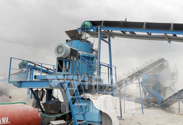 Mechanism of sand production line process