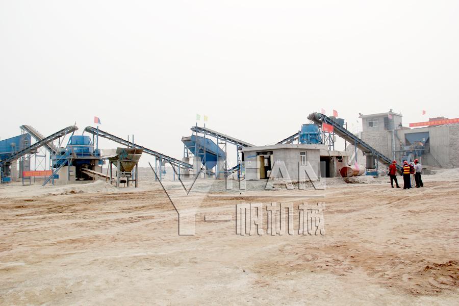 Aggregates production line