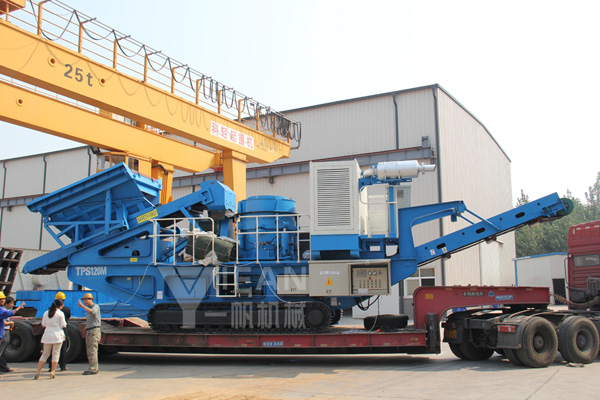 Crawler hydraulic mobile cone crusher station to Solomon
