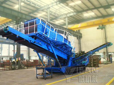 Crawler Screening Crusher