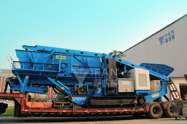 Hydraulic drive crawler crushing screening station loading shipments site --to Solomon