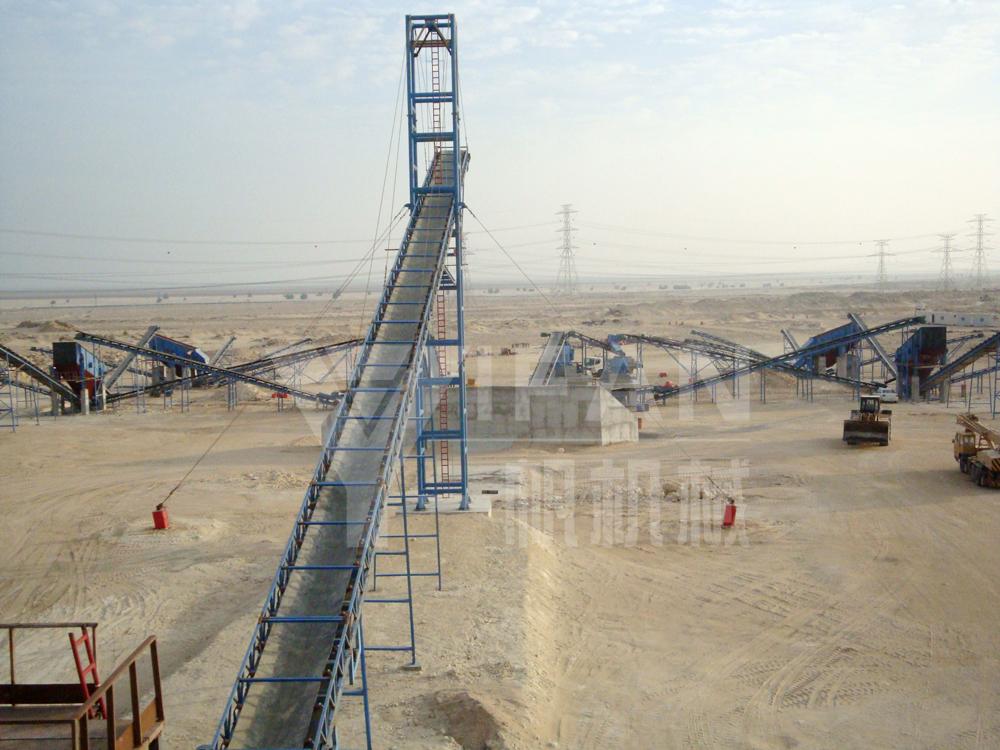 Mine stone crusher-Saudi 1200 tons / hour of sand production line