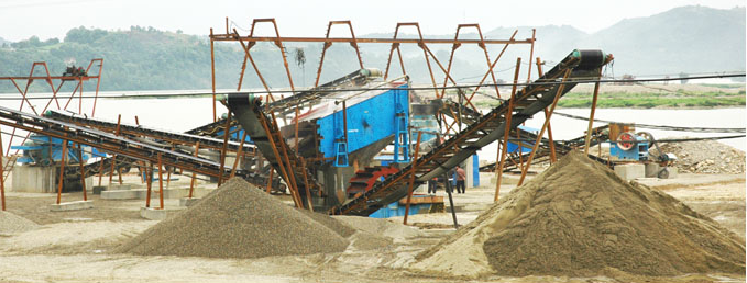Pebble crusher production line