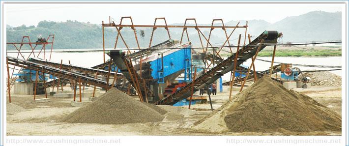 Pebbles sand production line