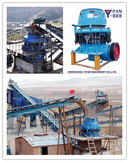 SDY Series Symons cone crusher used in gravel crushing plant