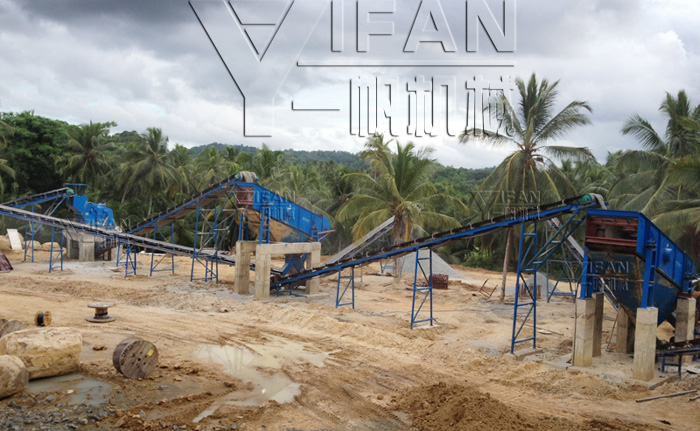 Sri Lanka 150t basalt production line