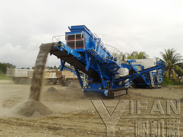 Crawler hydraulic mobile cone crusher station and hydraulic mobile screening Plants stations used in Solomon
