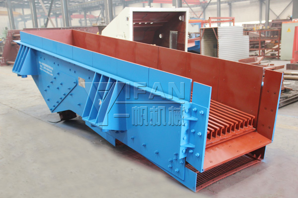 YIFAN GZT1148 double vibration feeder to improve the efficiency of the sand and gravel production line