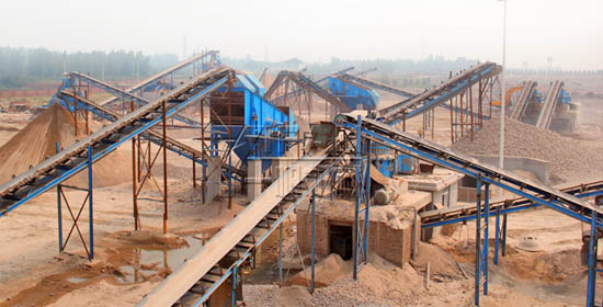 300 tons / hour river gravel sand production line in China