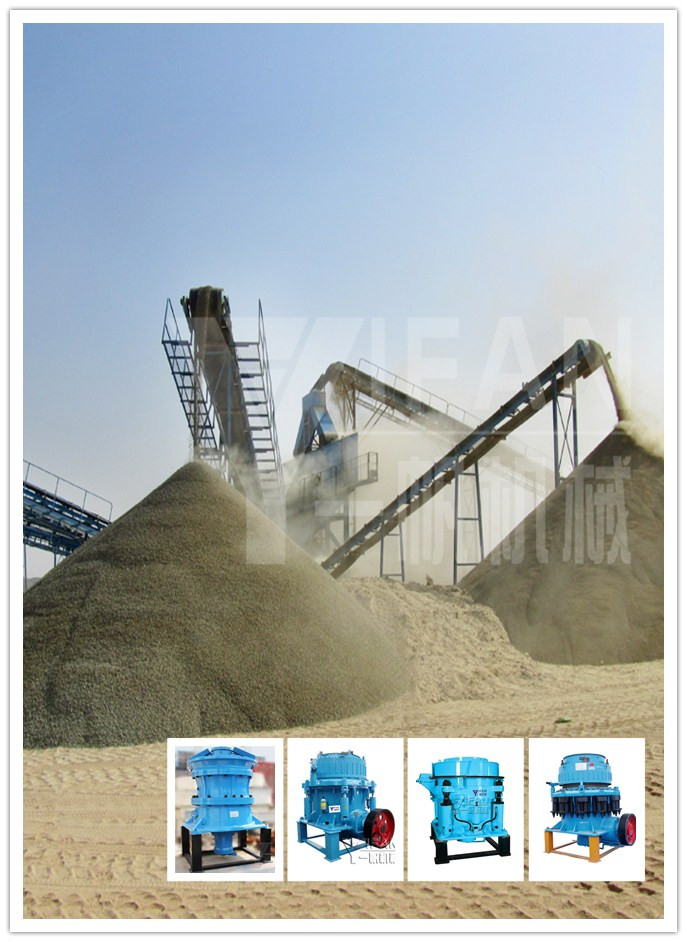 Gravel aggregate production line generally used cone crusher