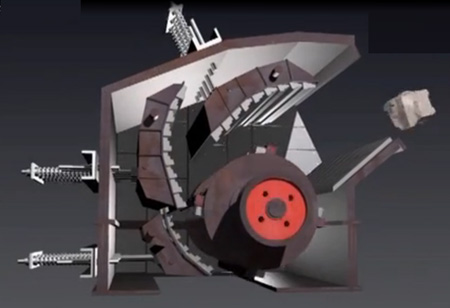 Impact crusher blocking material