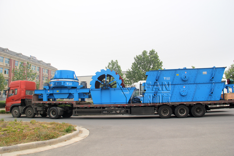 Yifan crushing machines exported to Middle East region shipments on-site