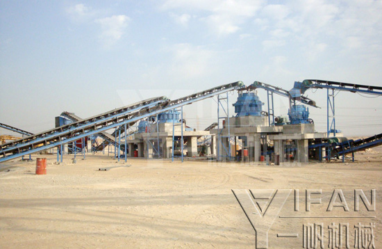 Spring cone crusher stone production line