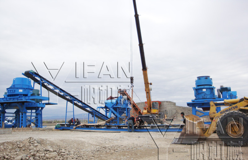 Stone production line installation site